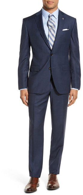 Ted Baker London 'Jay' Trim Fit Check Wool Suit