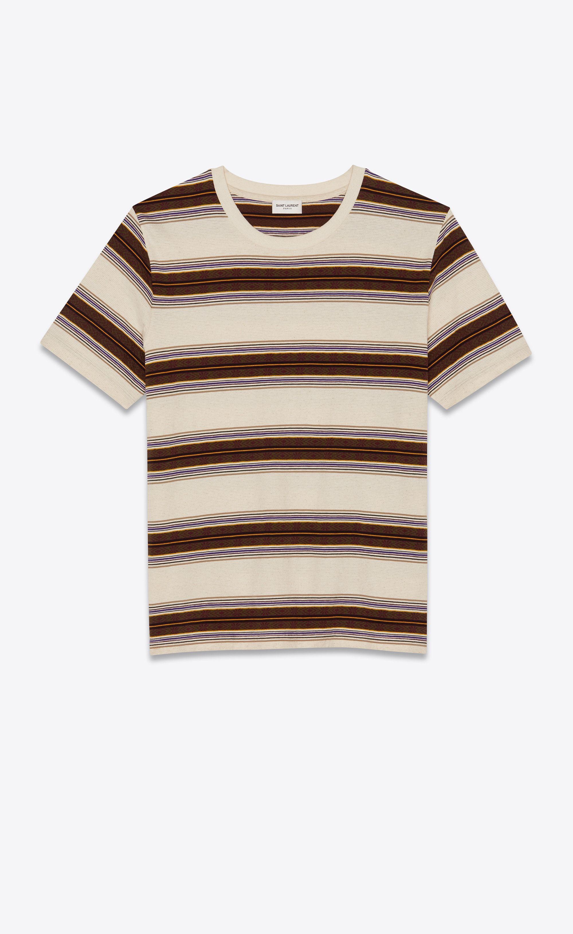 6d7427efc1d Saint Laurent Jacquard Striped t Shirt   YSL.com   Closet in ...