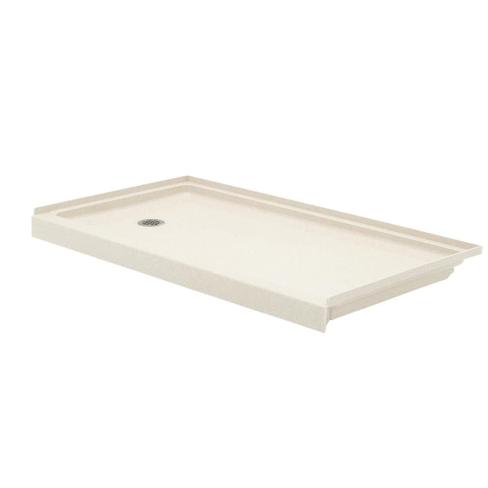 Swan 32 In X 60 In Solid Surface Single Threshold Retrofit Right
