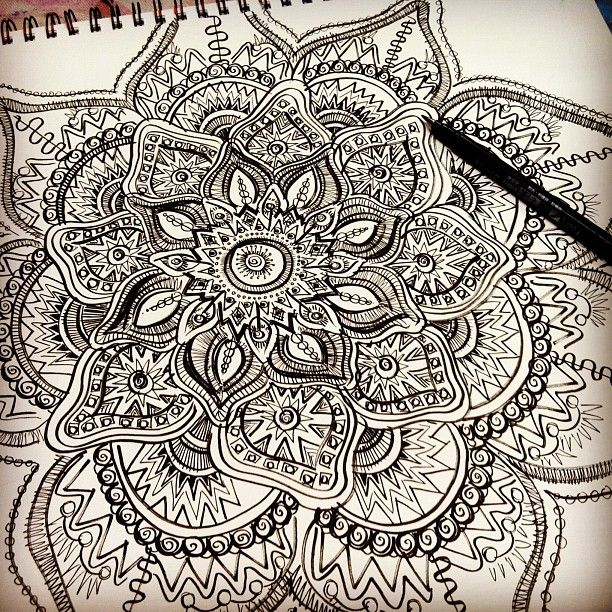 Mandala Doodle On Pinterest