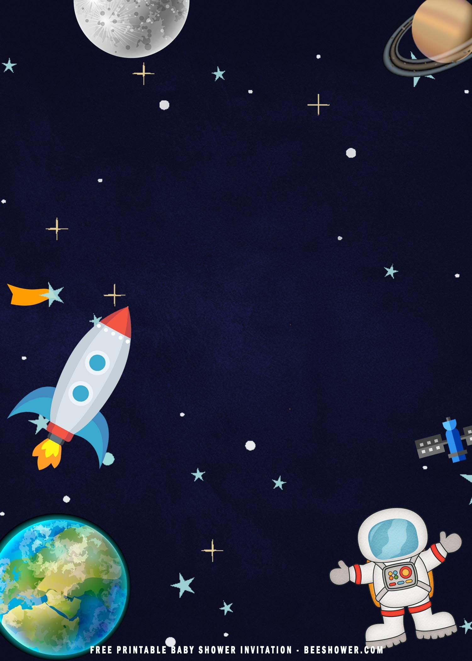 free printable space astronaut baby