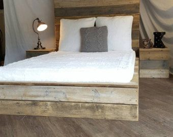 Grey Weathered Driftwood Finish Platform Bed Base By Thelakenest