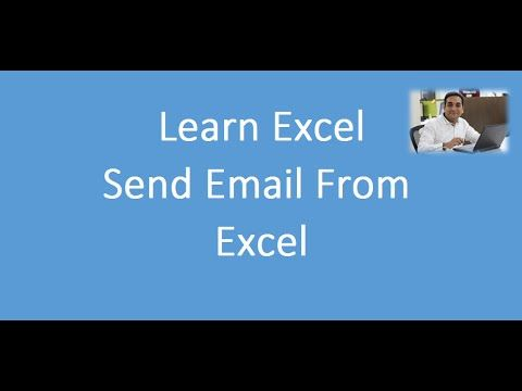 Free MS Excel Hindi video of how to Send Email from Excel MS Excel - merge spreadsheets