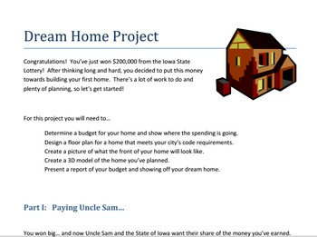 Build My Dream Home Math Project Middle School Math Projects Middle School Math Projects Middle School