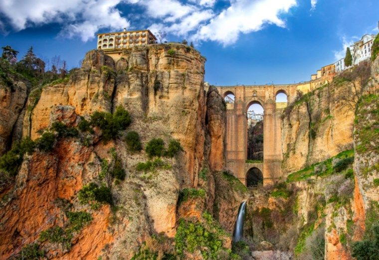 Puente nuevo ronda spain located in malaga province in - El mundo andalucia malaga ...