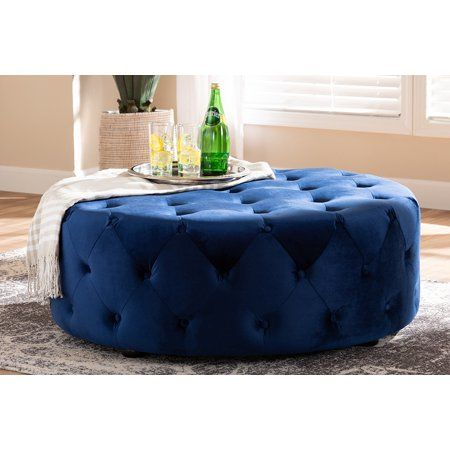 Pleasing Baxton Studio Cardiff Transitional Royal Blue Velvet Fabric Caraccident5 Cool Chair Designs And Ideas Caraccident5Info