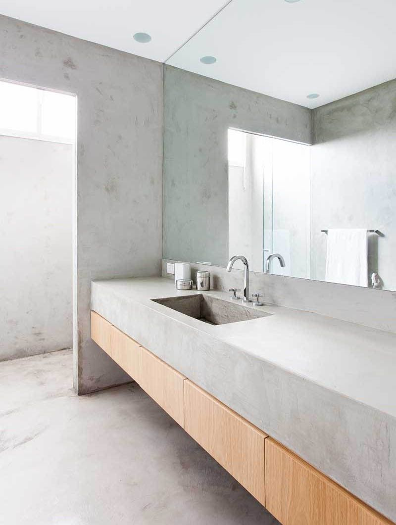 This Concrete Bathroom Countertop Is Hot On Pinterest Today ...