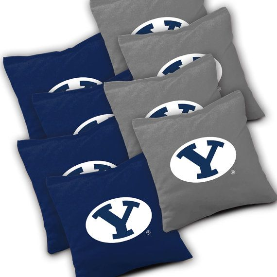 Officially Licensed BYU Cougars Cornhole Bags Set of 8 - Top Quality - Regulation Cornhole Bags - Bean Bags