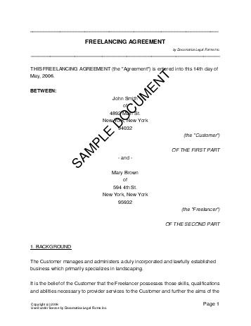 Printable Sample IT Services Contract Form Laywers Template - landscaping skills resume