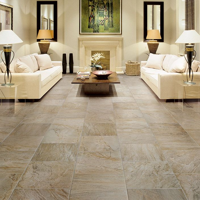 Family room this floor tile and pattern palisades for Ceramic tile flooring ideas living room