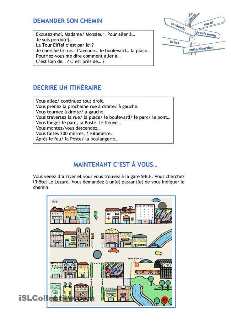 Super Indiquer le chemin | Français | Pinterest | Le chemin, Chemins et Fle EC16