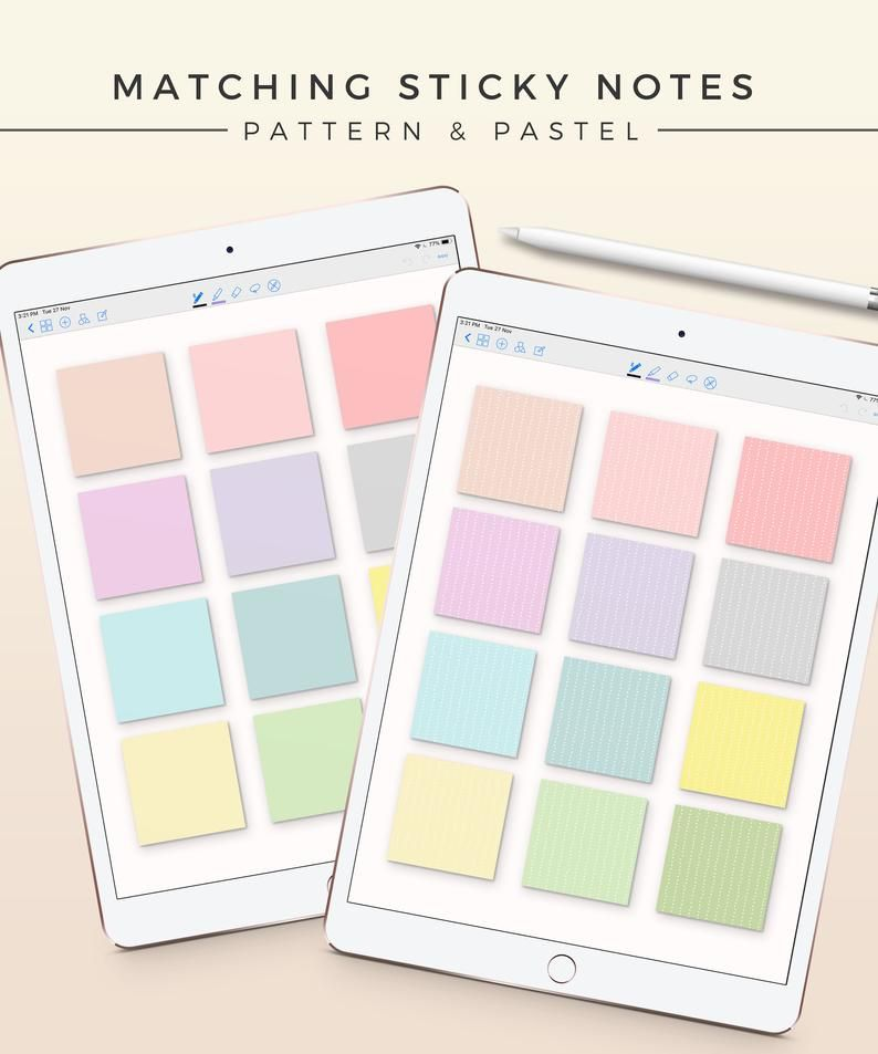 12 Pastel Digital Note Covers | iPad Sticky Notes | GoodNotes Template | Digital Notebook Cover | Tablet Study Journal | Productivity Page