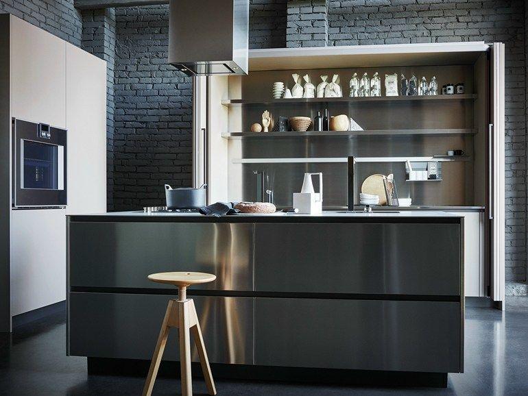 Kücheninsel Edelstahl ~ Einbauküche mit kücheninsel maxima composition cesar