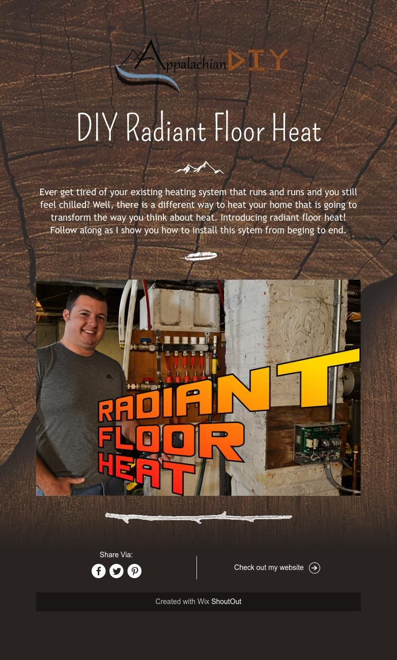 DIY Radiant Floor Heat   Radiant floor heating, Radiant ...