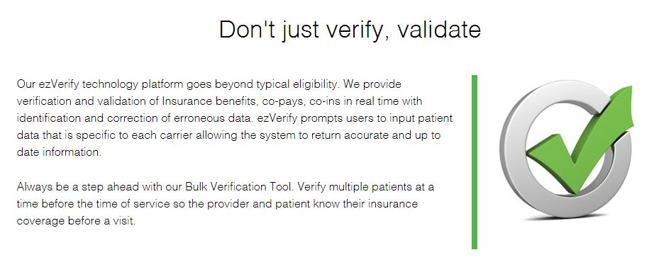 Don T Just Verify Validate Our Ezverify Technology Platform Goes