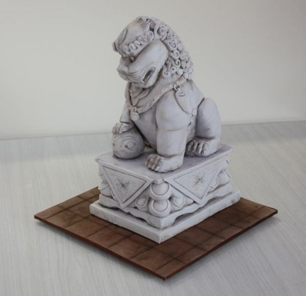 Food Lion Wedding Cakes: Chinese Lion Dog Statue By: Mlee000
