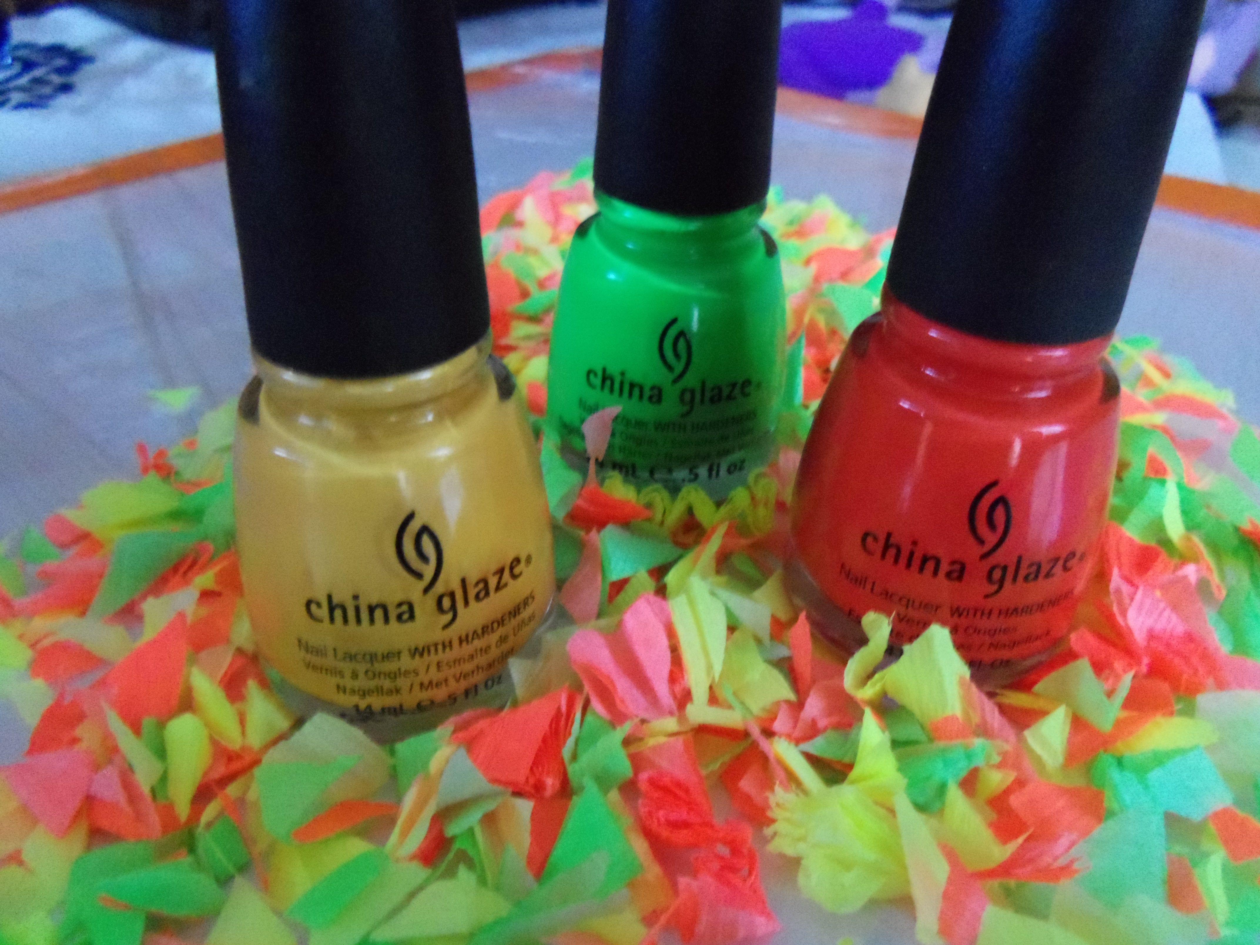 Esmalte de uñas - tonos fluor .. Marca China Glaze | Cosas de Chicas ...