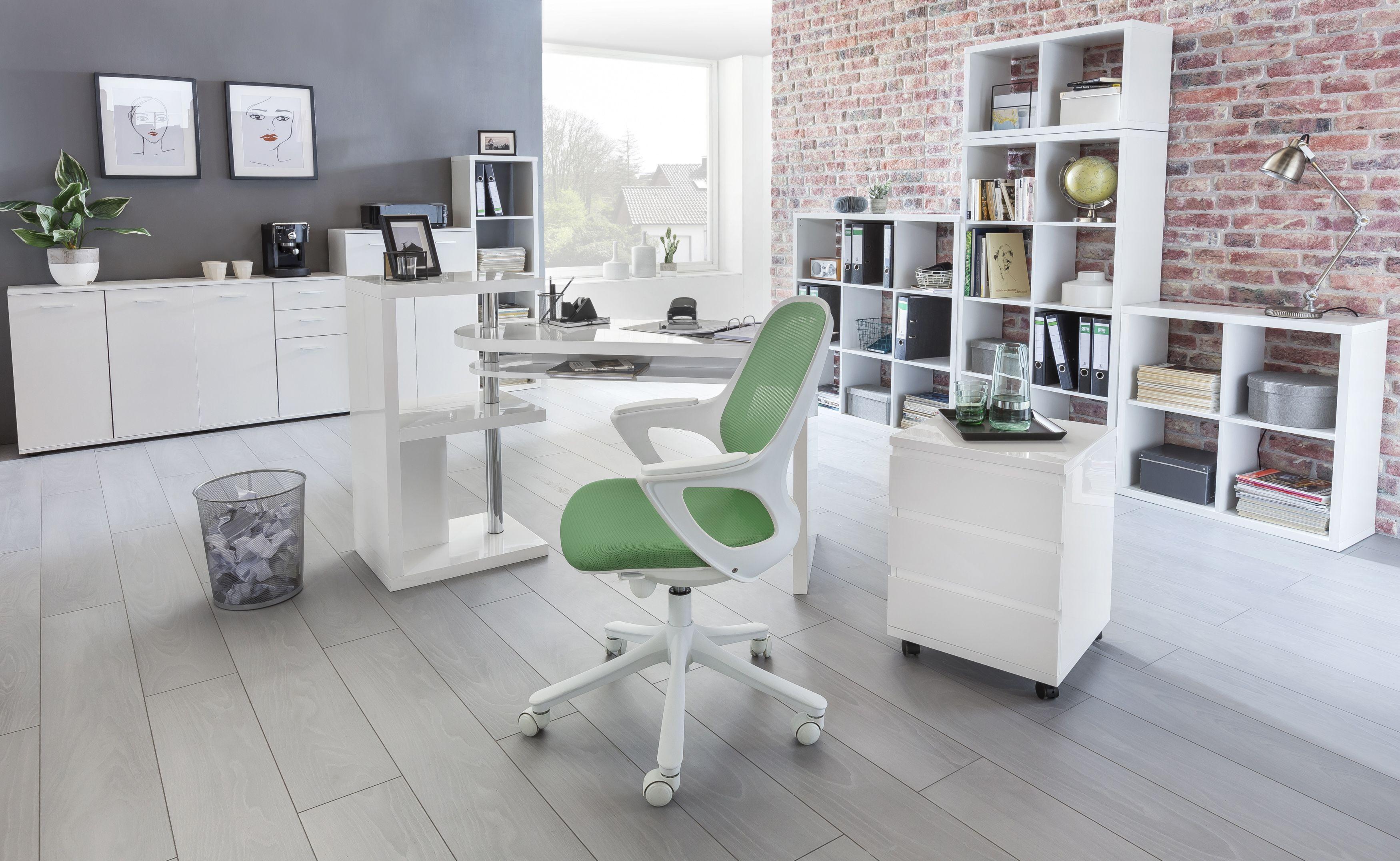 Eine Buroeinrichtung Im Modernen Stil Wohnen Weisse Mobel Buroeinrichtung