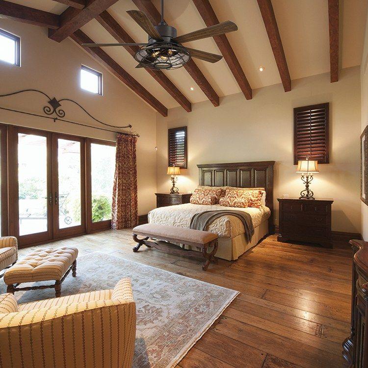 "Connell 56"" FiveBlade Ceiling Fan Wood floor design"