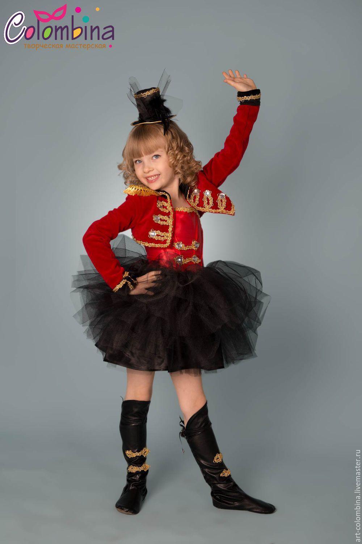 afaa55938e0ba Купить Костюм дрессировщицы - ярко-красный, карнавальный костюм, костюм  дрессировщицы, дрессировщица, атлас, фатин