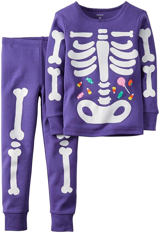 Carters Baby Boy Girl Halloween Glow-in-The-Dark Costume Pajamas PJs