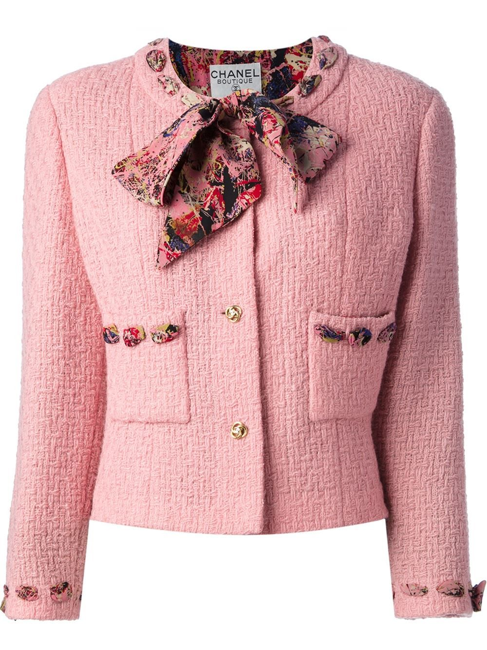 Chanel Vintage Boucle Jacket And Skirt Suit | chanel | Pinterest ...
