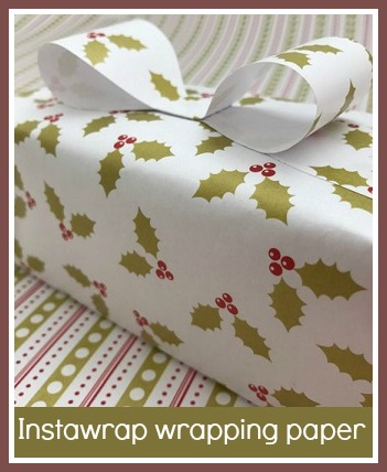 Instawrap wrapping paper - self-adhesive wrapping paper which makes wrapping Christmas gifts really easy