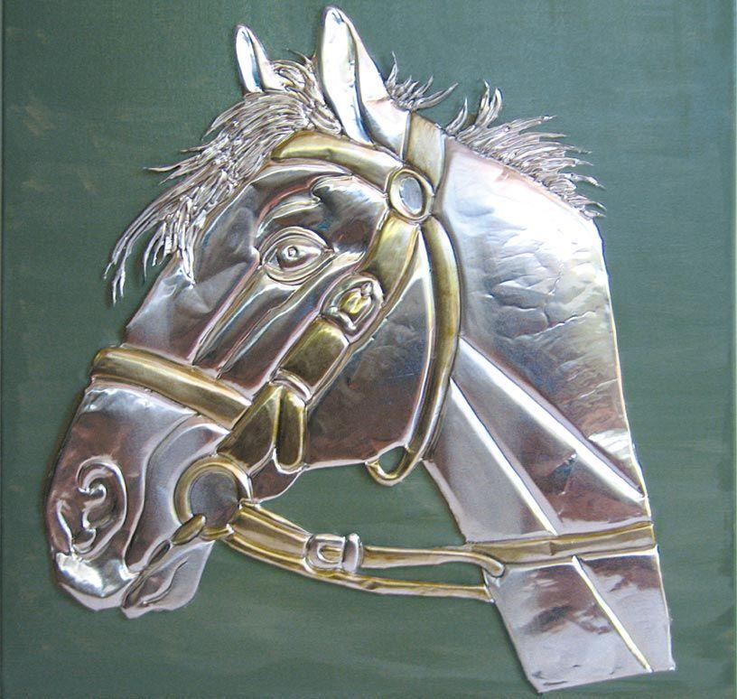 Repujado on pinterest metal wall art metal embossing for Manualidades con estano