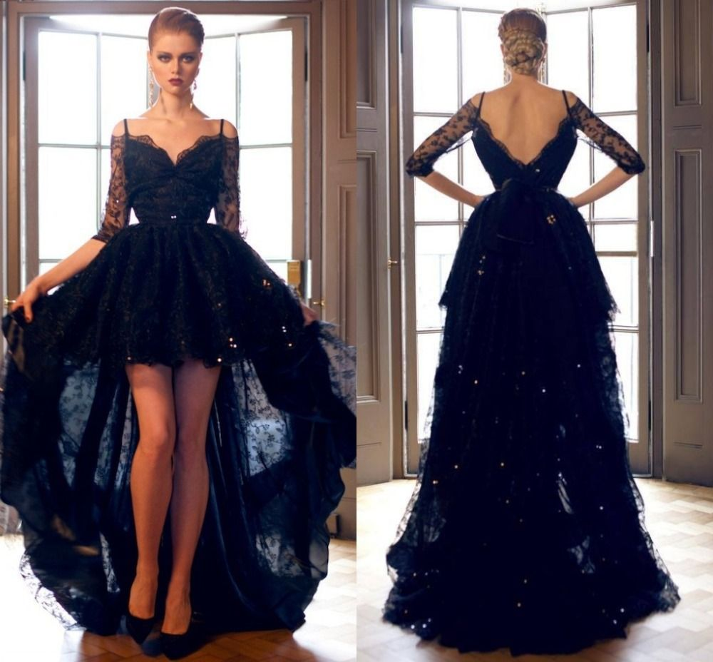 Imagem relacionada beautiful pinterest long dress party black