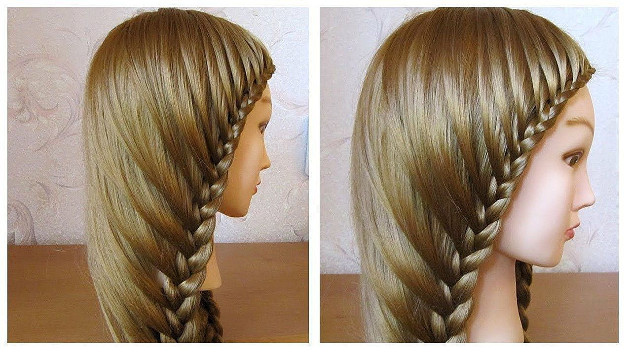 Simple hairstyle for long hair hair styling with easy braid on