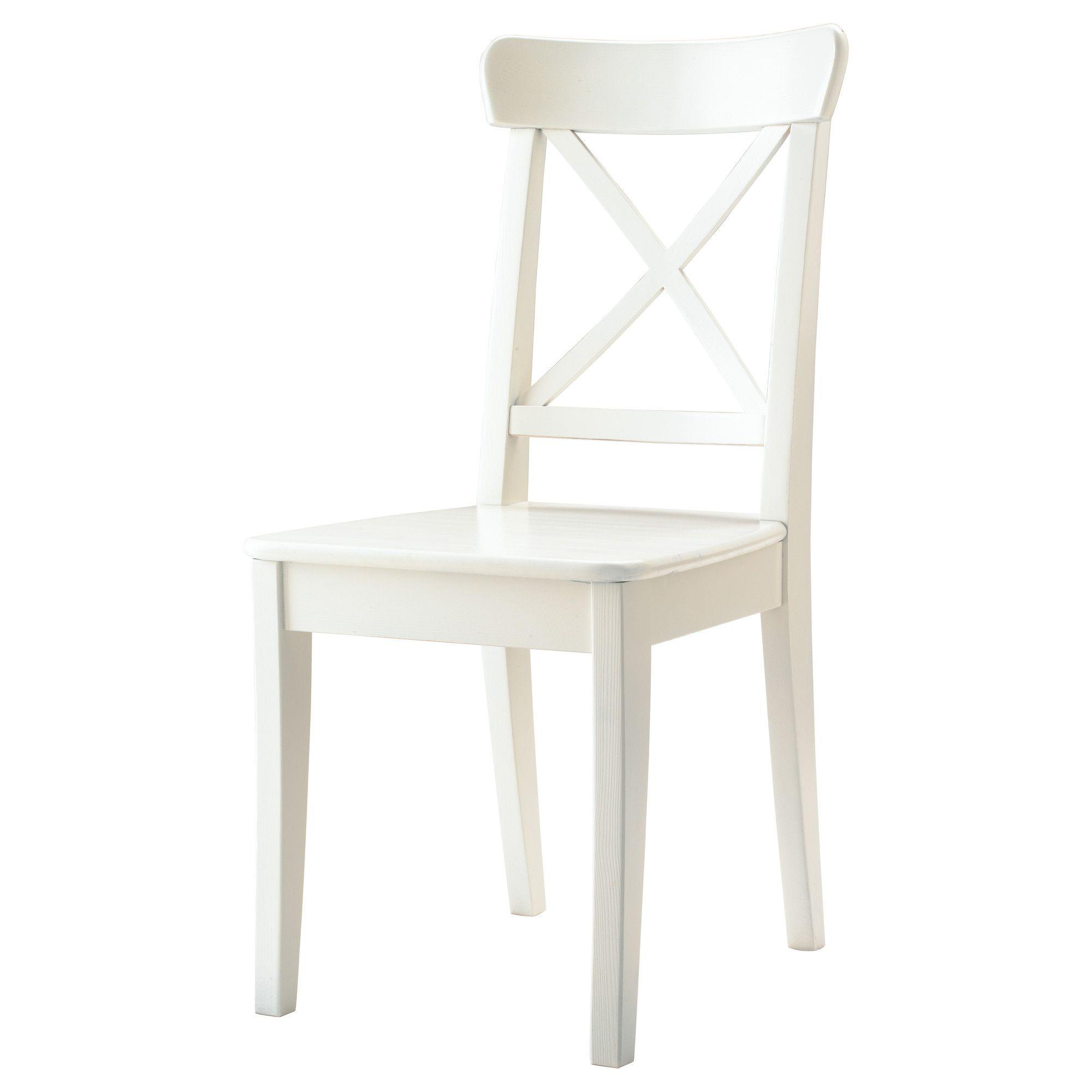Ikea White Dining Chair: INGOLF Chair, White