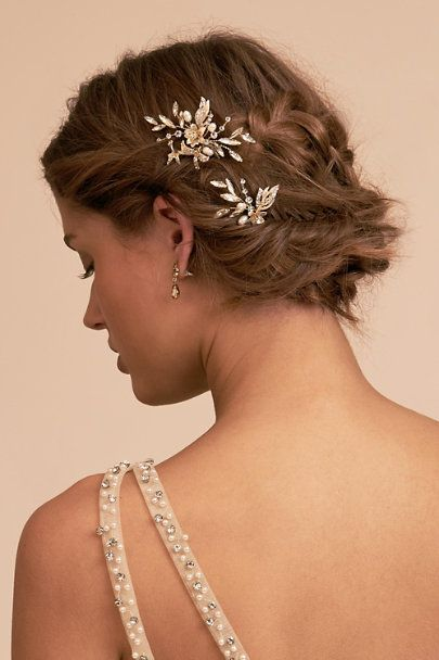 Mirabelle Hair Pins (2) In Gold by BHLDN – Gold – Size: One Size