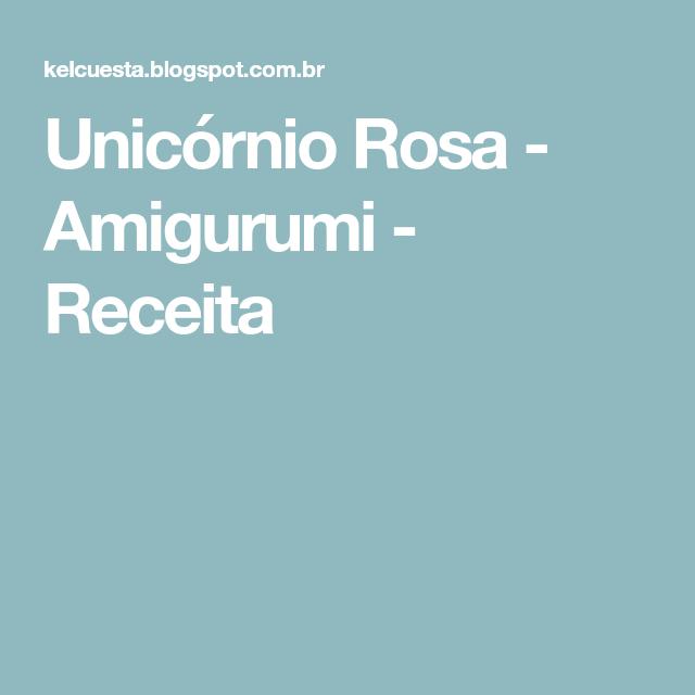 Unicornio Rosa Em Amigurumi Crochê - Decoração - R$ 109,90 em ... | 640x640