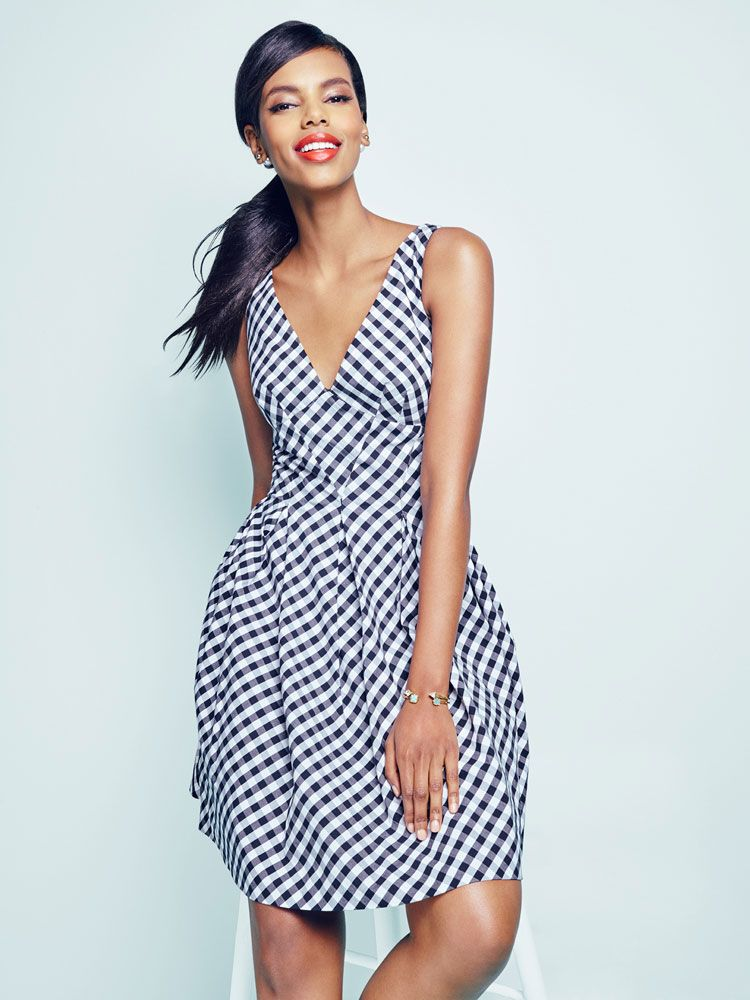 Vintage-inspired and perfect for spring, this Betsey Johnson gingham ...