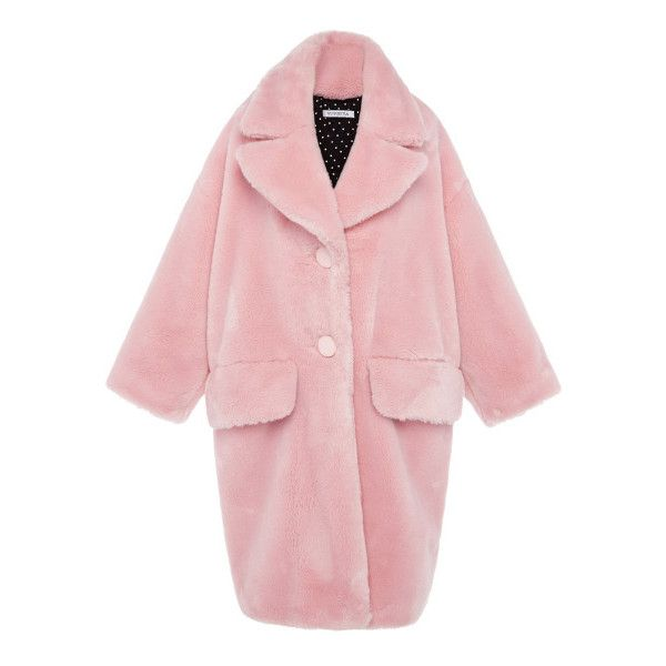 Vivetta Granpa Oversized Faux-Fur Coat found on Polyvore