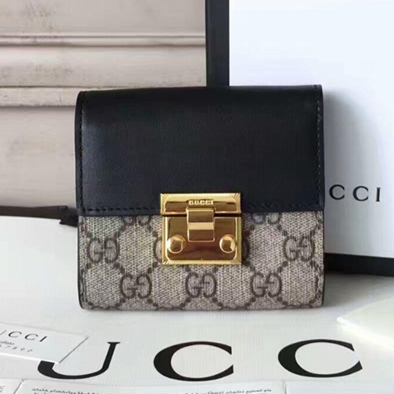 8795ae5e7b1b Gucci Real Leather Wallet 453155 Black | Gucci | Real leather wallet ...