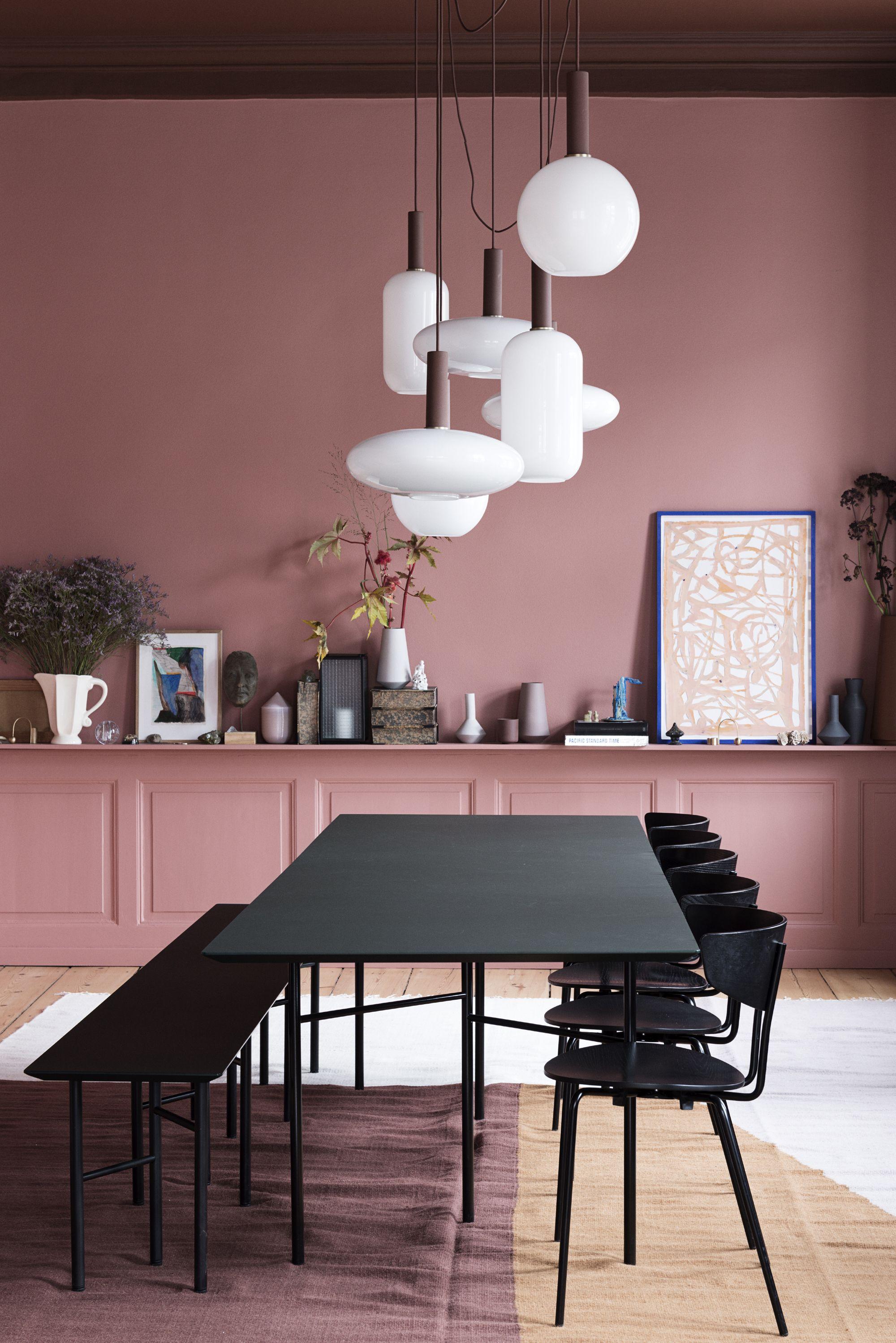 Rosé mit Schwarz kombiniert. Dänische Farbkombination für das ...