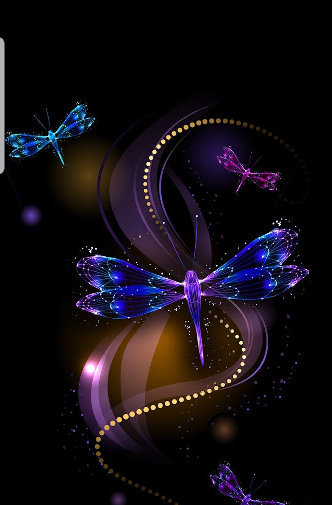 Wallpaper Mobile Dragonfly