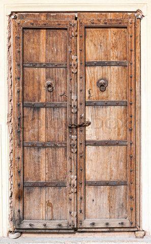 Stock image of Old wooden door