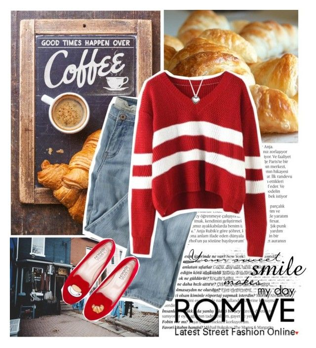 """""""Wine red sweater ROMWE"""" by gabygirafe ❤ liked on Polyvore featuring Balmain, Wrap, Chiara Ferragni, Pandora, women's clothing, women, female, woman, misses and juniors"""