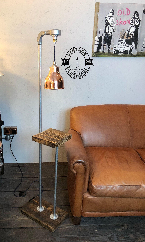 The Blickling Industrial Floor Lamp Table Light Uk Plug