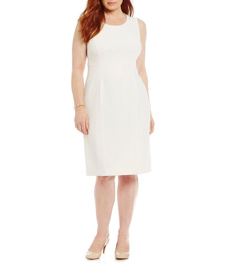 12f472b7ecd Kasper Plus Stretch Crepe Dress