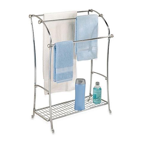 The Elegant Interdesign York Lyra Free Standing Towel Stand Has 3