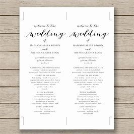 Image Result For Printable Wedding Program Templates  Great Ideas