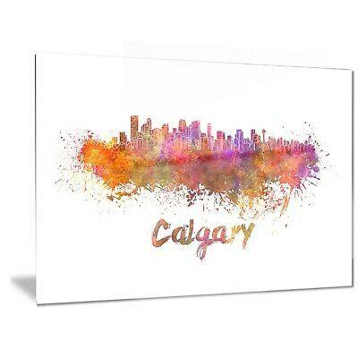 Designart 'Calgary Skyline' Cityscape Metal Wall Art  Small (ebay link)