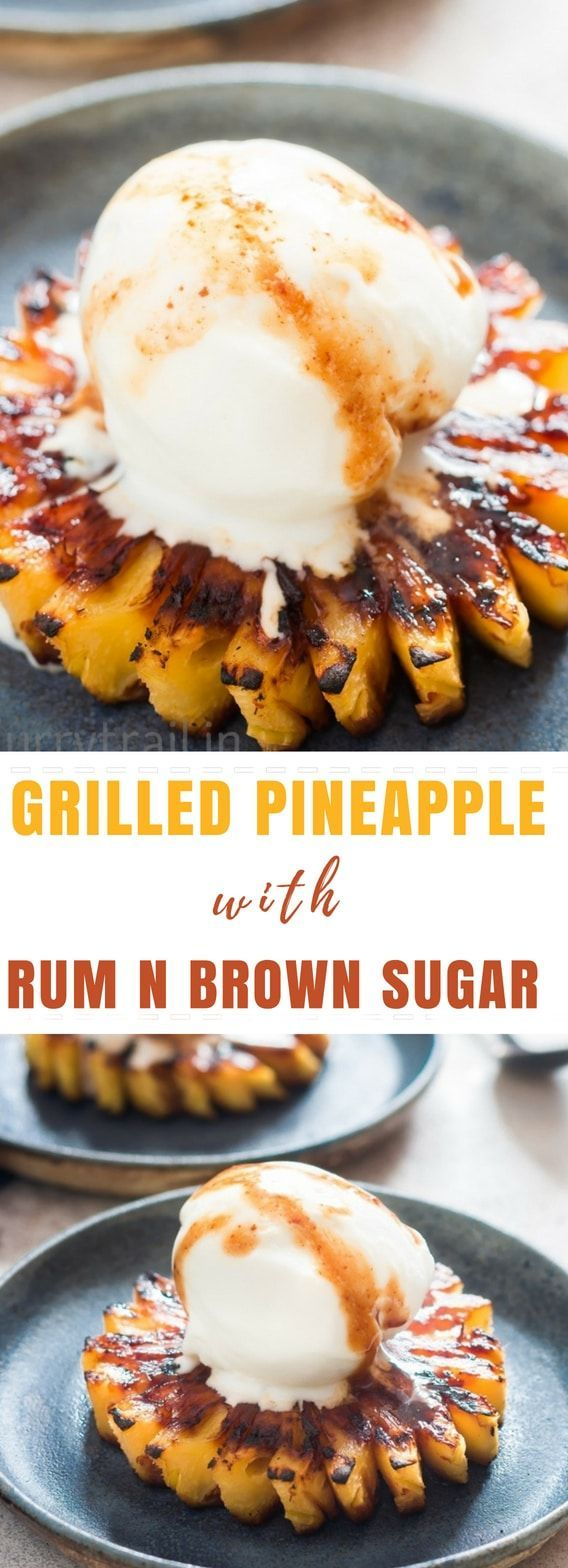 Photo of Grilled Pineapple with Brown Sugar Rum Glaze (How to grill pineapple)