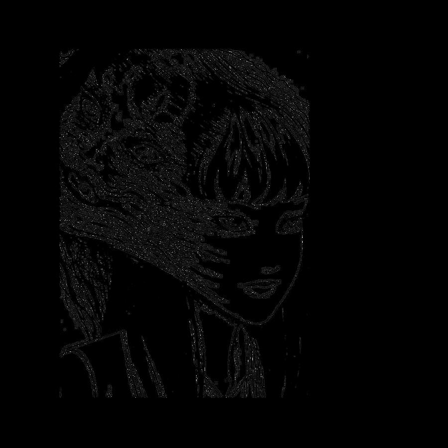 "JUNJI ITO - SAD JAPANESE ANIME AESTHETIC Acrylic Tray by Poser_Boy - Medium 15 1/2"" x 12"""