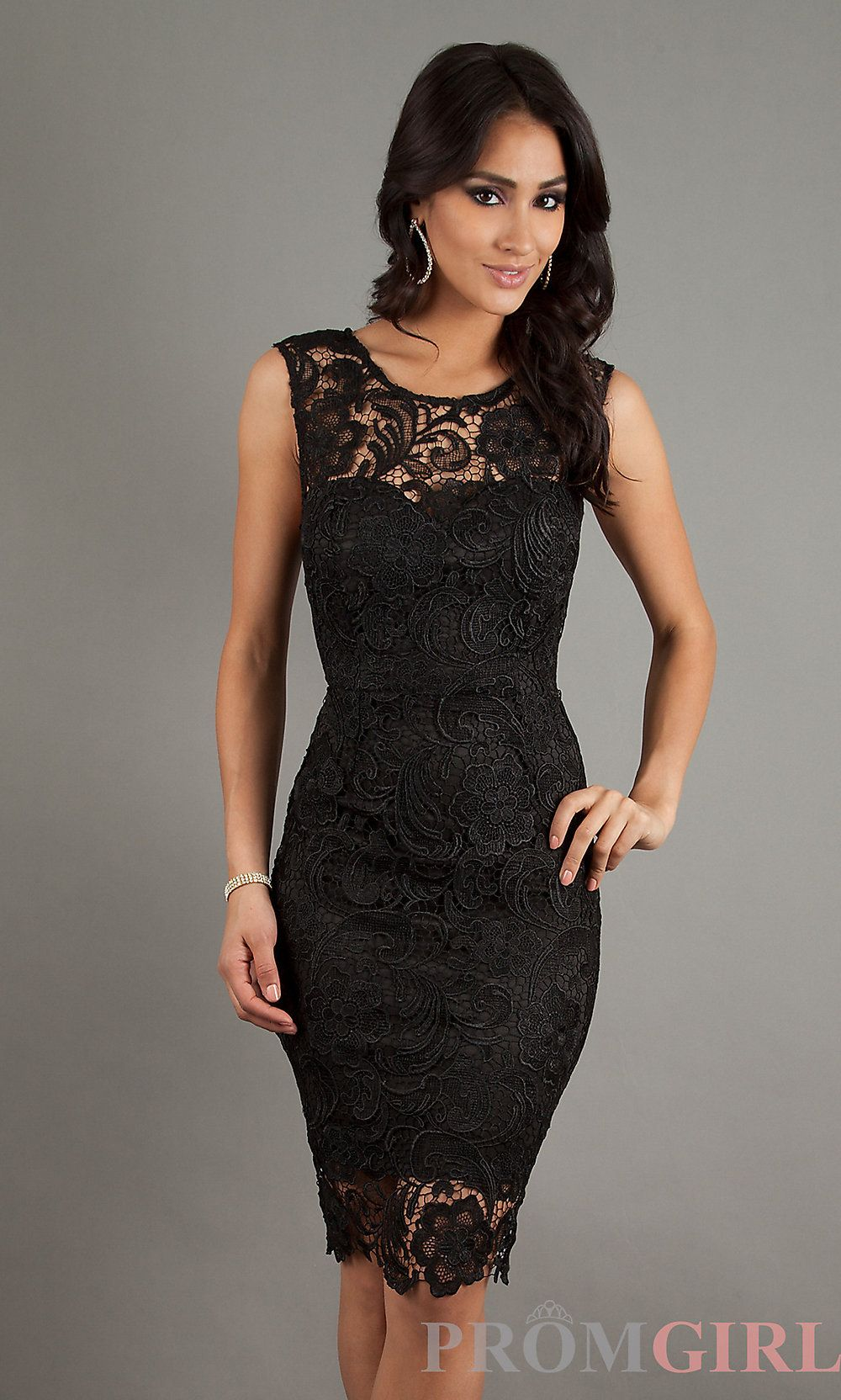 Tango anyone? Sleeveless Lace Knee Length Dress, Cocktail Dresses ...