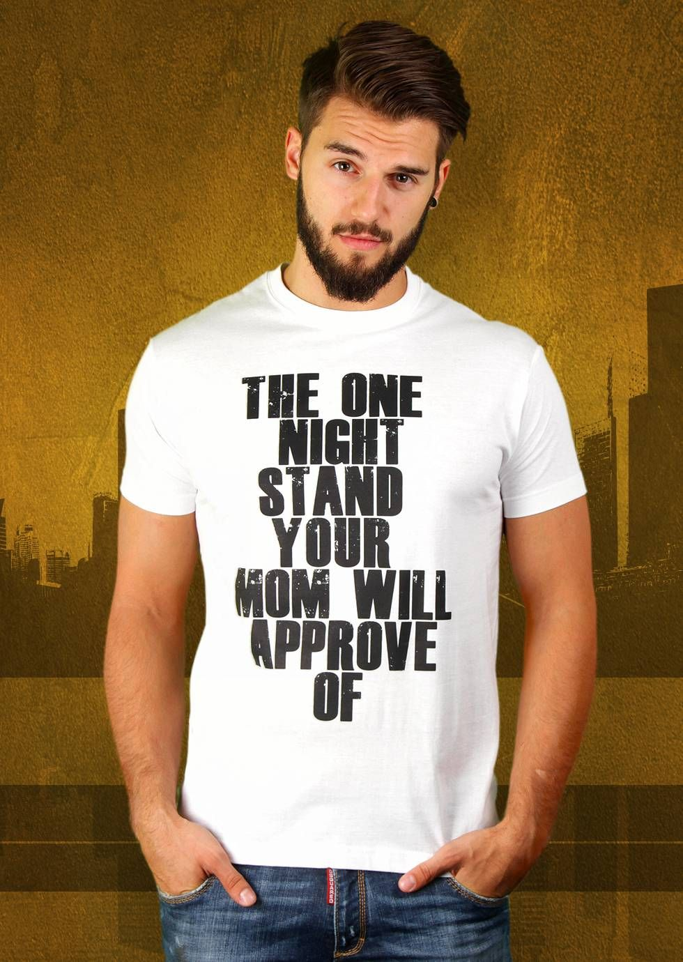 The One Night Stand Your Mom Will Approve Of T-Shirt von Kater Likoli, Mannheim, Deutschland | Design by Kater Likoli $19.95