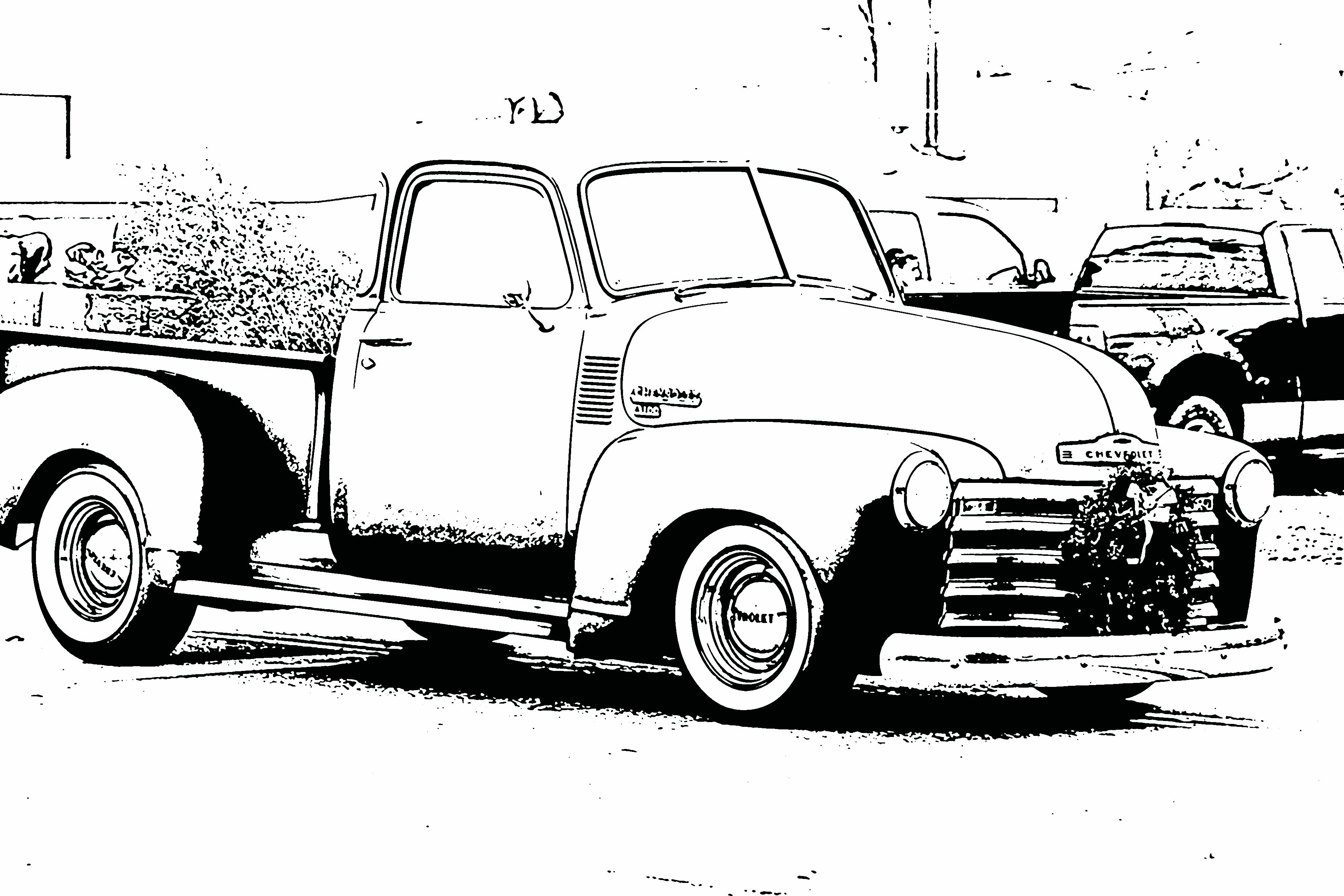 Car Truck Coloring Pages : Free coloring sheets pictures of vintage cars for kids bring a